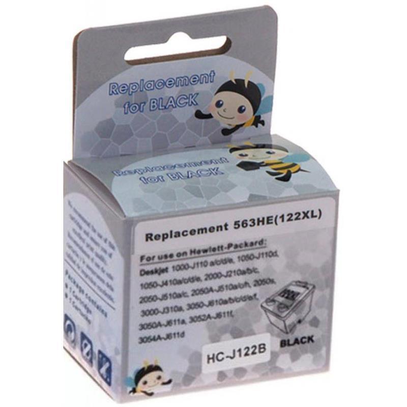 Картридж MicroJet для HP DJ 1050/2050/3050 аналог HP №122 XL (CH563HE) Black (HC-J122B) повышенной емкости