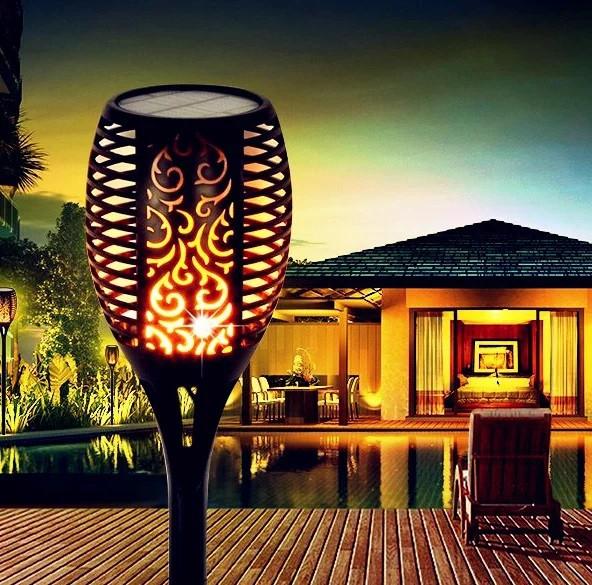 Садовий світильник Факел🔥 [Flame Light] з імітацією огня 96LED🔥77см🔥 IP65🔥 10 годин