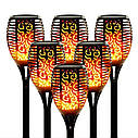 Садовий світильник Факел🔥 [Flame Light] з імітацією огня 96LED🔥77см🔥 IP65🔥 10 годин, фото 3