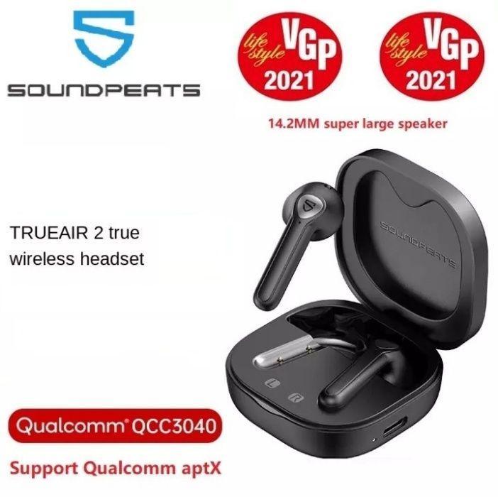 Беспроводные наушники TWS SoundPEATS True Air 2, Qualcomm QCC3040, ATPX