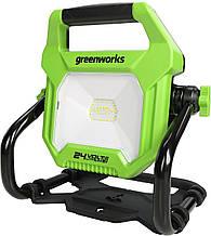 Переносний акумуляторний світильник Greenworks 24V (також від мережі) 2000-Lumen LED , WL24B00 без АКБ і ЗУ
