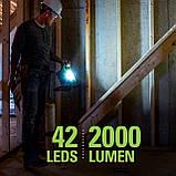 Переносний акумуляторний світильник Greenworks 24V (також від мережі) 2000-Lumen LED , WL24B00 без АКБ і ЗУ, фото 7