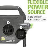Переносний акумуляторний світильник Greenworks 24V (також від мережі) 2000-Lumen LED , WL24B00 без АКБ і ЗУ, фото 6