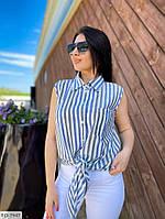 Молодежная стильная женская рубашка на завязках больших размеров 50-56 арт. с41316