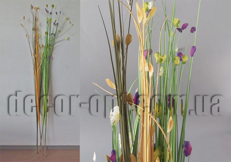 Ветка декоративная с цветными листочками 160см