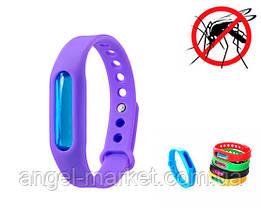Антимоскитный силіконовий браслет від комарів і мошок для дітей і дорослих якісний фіолетовий