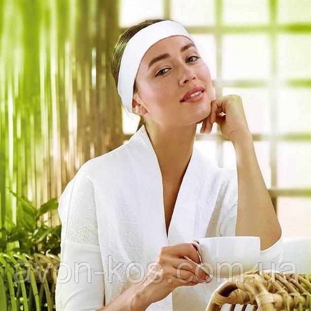 Пов'язка на голову з махрового трикотажного полотна  для косметичних процедур Avon Planet Spa