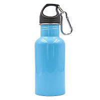 Пляшка для води алюмінієва з карабіном 500ml FI-0044