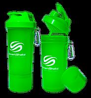 Спортивний шейкер (2-х камерний) 500 мл SMART SHAKER FI-5054, Зелений