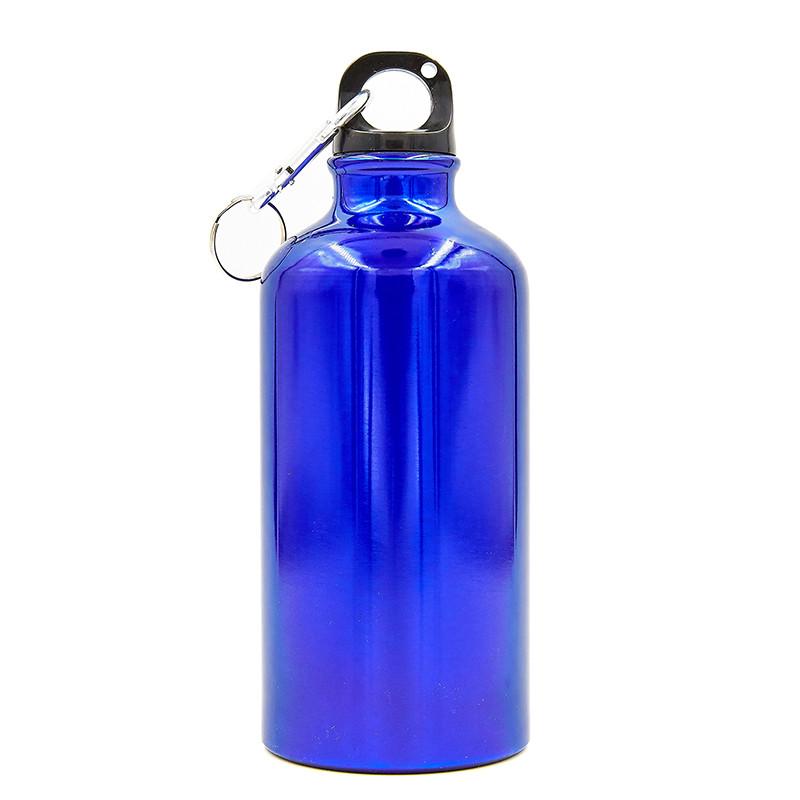 Спортивна алюмінієва пляшка для води 500 мл L-500, Синій