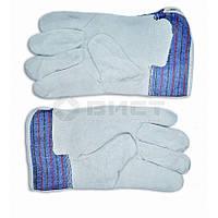 Рукавички робочі замшеві жовті 16-151 Technics // Перчатки рабочие, замшевые