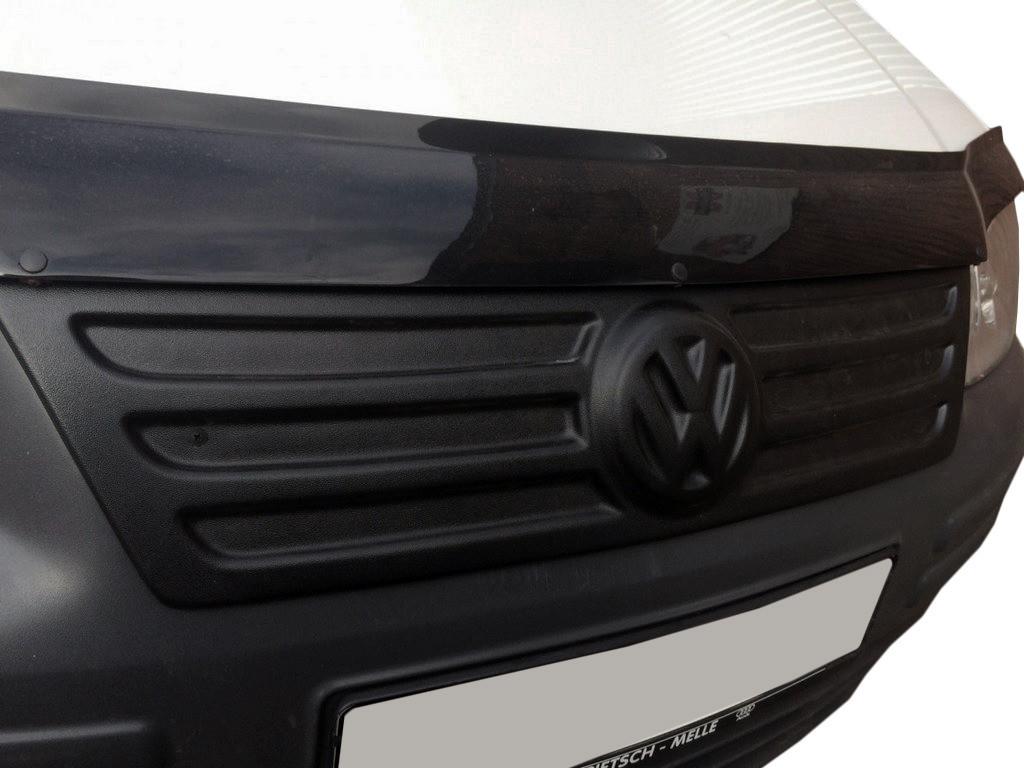 РОЗПРОДАЖ!!! Зимова накладка на решітку (верхня) Глянцева для Volkswagen Caddy (2004-2010)