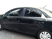 Окантовка стекол (4 шт, нерж.) для Kia Cerato 2 2010-2013 гг.