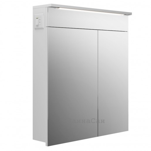 Дзеркальна шафа для ванної 70 см з прямими фасадами РЕСПЕКТ Allet Atmc - 70L