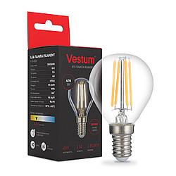 Светодиодная филаментная лампа Vestum G45 Е14 4Вт 220V 3000К 1-VS-2226
