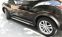 Боковые пороги Duru (2 шт., алюминий) для Nissan Juke 2010↗ гг., фото 1