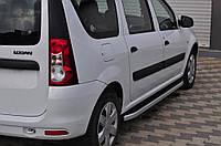 Бокові пороги Fullmond (2 шт., алюм.) для Dacia Logan MCV (2008-2014), фото 1