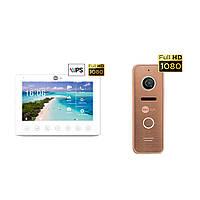 Комплект відеодомофона Neolight NeoKIT HD+ Bronze