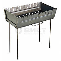 Мангал-чемодан 37х34х50 см на 6 шампурів Sunday 73-556 | шампуров