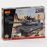 Конструктор военный танк 3383 World Military (742 детали)