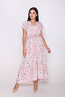 Красиве видовжене жіноче плаття вільного силуету, фото 1