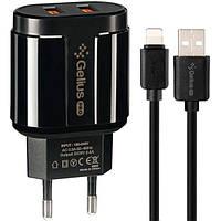 Сетевое Зарядное Устройство Gelius Pro Avangard GP-HC06 2USB 2.4A + Cable iPhone X
