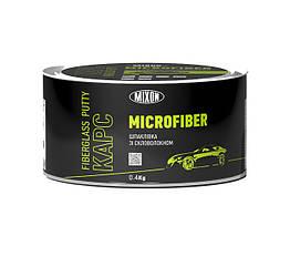 Двухкомпонентная автомобильная шпатлевка MIXON КАРС MICROFIBER со стекловолокном 0.4кг