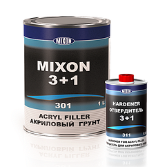 Акриловая автомобильная грунтовка MIXON 3+1 серый 1.1л