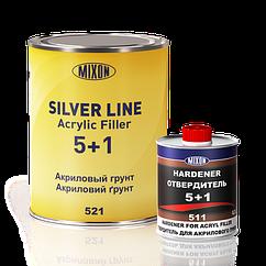 Акриловая автомобильная грунтовка SILVER LINE MIXON 5+1 серый 1л