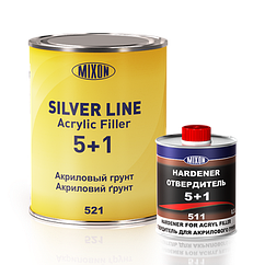 Акриловая автомобильная грунтовка SILVER LINE MIXON 5+1 желтый 1л
