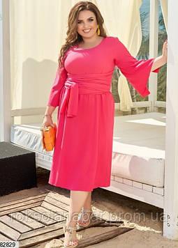Літня сукня XL коралового кольору