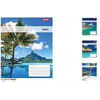 Тетрадь ученическая А5 18 линия 1В Tahiti упаковка 25 шт 765436