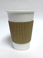 Термочехол на стаканы бумажные 250 - 330 мл.