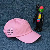 Кепка ASSC коттоновая рожева бейсболка з вишивкою стандартного розміру, фото 1