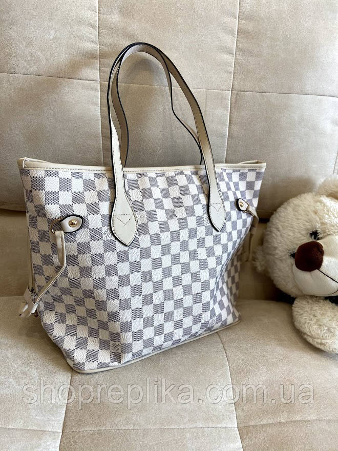 Большая женская светлая сумка модный тренд 2021 Луи Виттон стильная женская сумка шоппер женская Сумка шопер