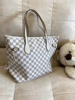 Большая женская светлая сумка модный тренд 2021 Луи Виттон стильная женская сумка шоппер женская Сумка шопер, фото 1