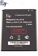 Батарея (акб, аккумулятор) BL3819 для Fly IQ4514 Quad EVO Tech 4, 2000 mAh, оригинал