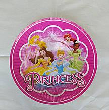 Набір паперових тарілок Принцеси 18см 5шт