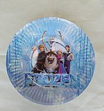 Набір паперових тарілок принт Холодне серце 18см 5шт