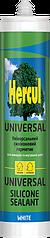 Универсальный силиконовый герметик HERCUL UNIVERSAL белый 280мл