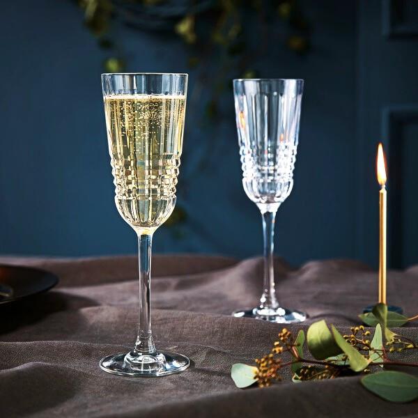 Набір келихів для шампанського з кришталевого скла Cristal D`Arques Rendez-Vous 170 мл (L8234)