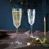 Набір келихів для шампанського з кришталевого скла Cristal D`Arques Rendez-Vous 170 мл (L8234), фото 1