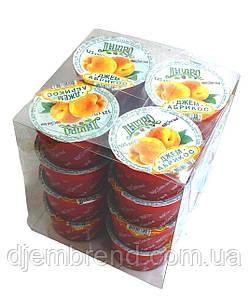 Джем Абрикос в стаканчику ТМ Дніпро (упаковка 16 шт по 125 г)