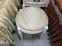 Банкетка круглая деревянная для спальни и прихожей Феникс Микс мебель, цвет белый