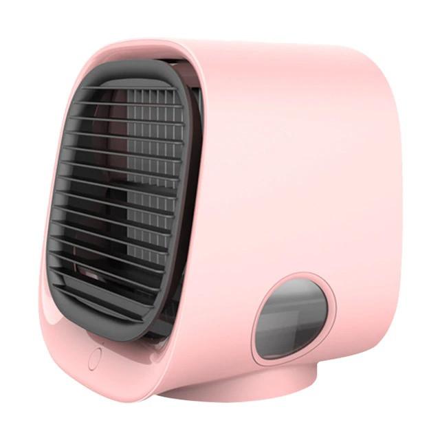 Вентилятор настільний, міні-кондиціонер M201 Рожевий