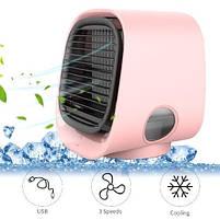 Вентилятор настільний, міні-кондиціонер M201 Рожевий, фото 2