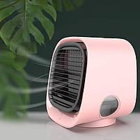 Вентилятор настільний, міні-кондиціонер M201 Рожевий, фото 3