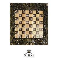 Шахматы, шашки и нарды 3в1 ручной работы, фото 1