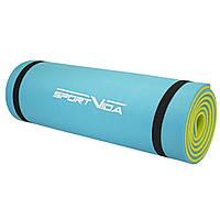 Килимок туристичний (каремат) SportVida XPE 1 см SV-EZ0003 Blue/Yellow