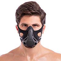 Маска для тренувань спортивна тренувальна маска для бігу PHANTOM Фантом Чорний (DH-6042) S
